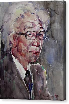 Wc Portrait 1624 My Papa Canvas Print by Becky Kim