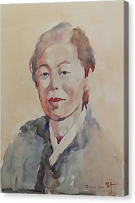 Wc Portrait 1625 My Mama Canvas Print by Becky Kim
