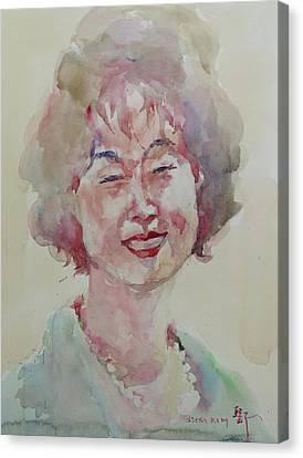 Wc Portrait 1627 My Sister Hyunju Canvas Print by Becky Kim