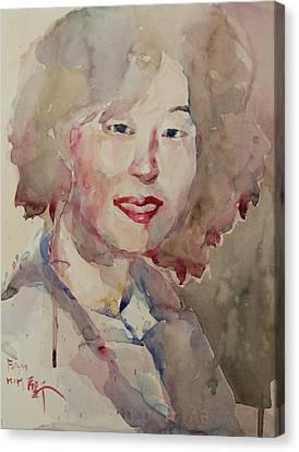 Wc Portrait 1628 My Sister Hyunsook Canvas Print by Becky Kim