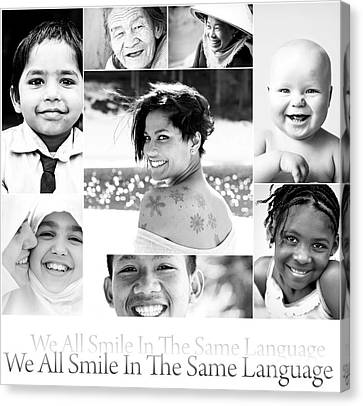 We All Smile In The Same Language Canvas Print by Jacky Gerritsen