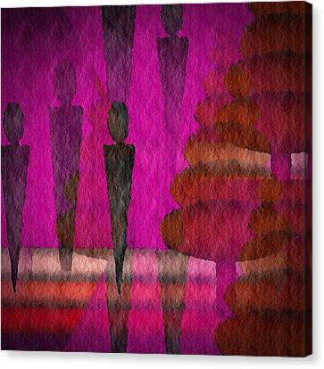 Canvas Print featuring the digital art We Stand In The Shadows by Terry Mulligan