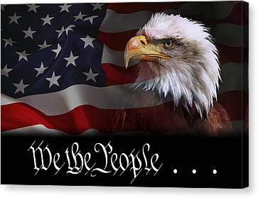 We The People . . . Of The United States Of America Canvas Print by Daniel Hagerman