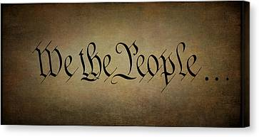 We The People . . . Panel Canvas Print by Daniel Hagerman