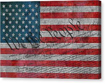 We The People Canvas Print by Dan Sproul