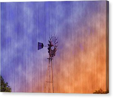 Weather Vane Sunset Canvas Print by Bill Cannon