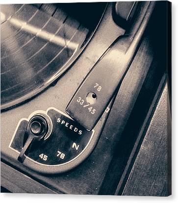 Webcor Musicale Phonograph Canvas Print by Jon Woodhams