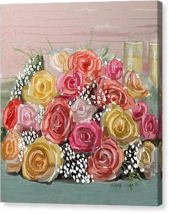 Wedding Bouquet Canvas Print by Arline Wagner