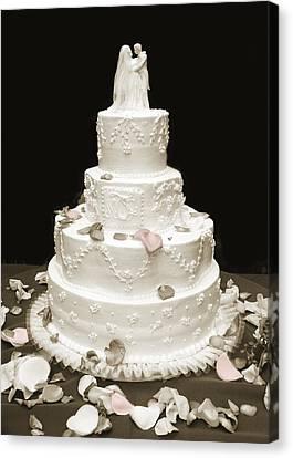 Wedding Cake Petals Canvas Print by Marilyn Hunt