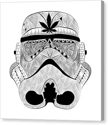 Weed Trooper Canvas Print by Serkes Panda