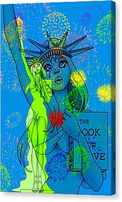 Weeping Liberty Canvas Print by Lynn Rider