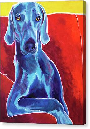 Weimaraner - Otis Canvas Print by Alicia VanNoy Call