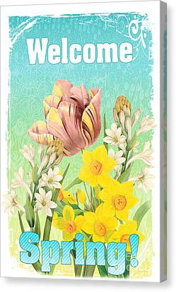 Welcome Spring Flowers-jp2775 Canvas Print by Jean Plout