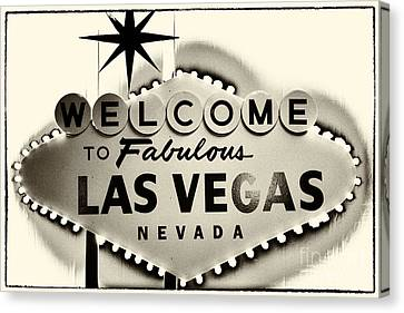 Welcome To Fabulous Las Vegas Nevada Canvas Print by Leslie Leda