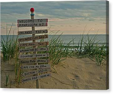 Welcome To Manasquan Canvas Print by Robert Pilkington