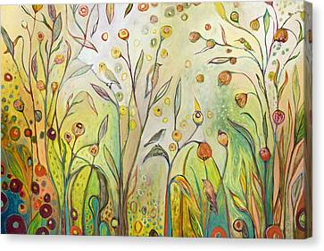 Welcome To My Garden Canvas Print by Jennifer Lommers