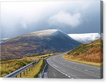 Welcome To The Highlands Canvas Print by Gill Billington