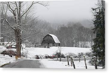 Welcome To Winter Canvas Print by Benanne Stiens