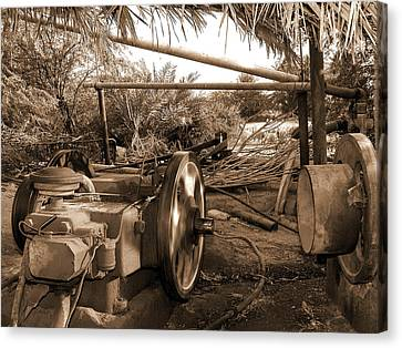 Well Pump Canvas Print by Graham Taylor