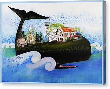 Wellfleet - A Whale Of A Town Canvas Print by Theresa LaBrecque