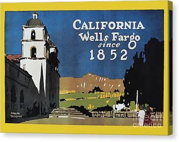 Wells Fargo Banner, 1917 Canvas Print by Granger