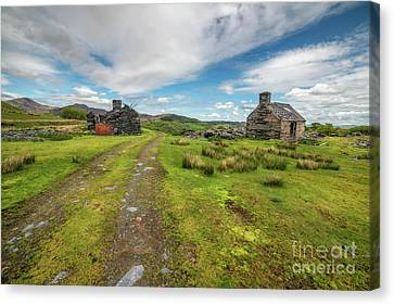 Welsh Cottage Ruins Canvas Print by Adrian Evans