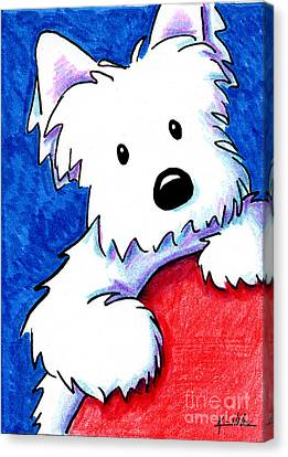 Wendell The Westie Canvas Print by Kim Niles