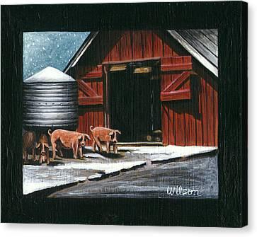 Wenger Barn Canvas Print by Carol Wilson