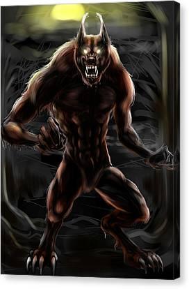 Werewolf Canvas Print by Nat