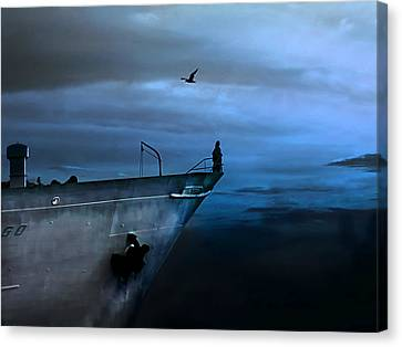 West Across The Ocean Canvas Print by Joachim G Pinkawa