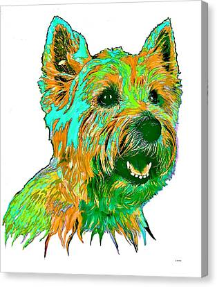 West Highland Terrier Canvas Print by Marlene Watson