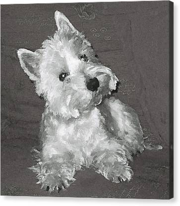 West Highland White Terrier Canvas Print by Charmaine Zoe