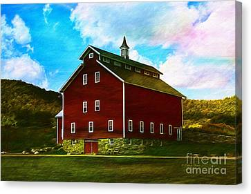 West Monitor Barn Vermont Canvas Print by Deborah Benoit