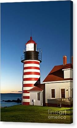 West Quoddy Head Lighthouse Maine Canvas Print by John Greim