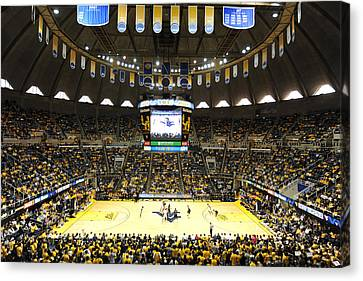 West Virginia Mountaineers Wvu Coliseum Canvas Print by Replay Photos