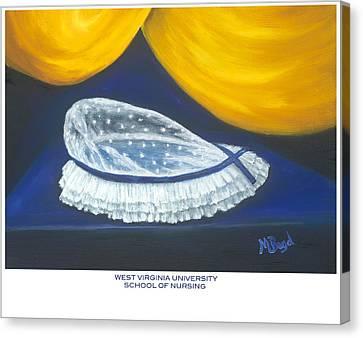 West Virginia University School Of Nursing Canvas Print by Marlyn Boyd