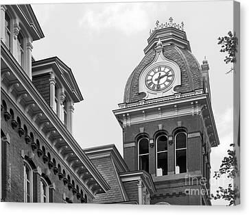 West Viriginia University Clock Tower Canvas Print by University Icons