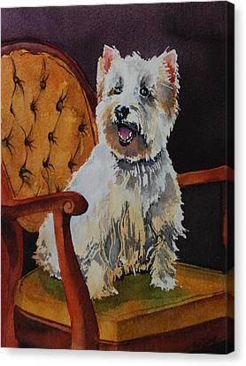 Westie Angel Dusty Canvas Print by Donna Pierce-Clark