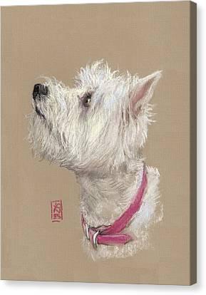 Westie Profile Canvas Print by Debra Jones