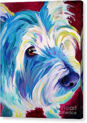Westie - That Look Canvas Print by Alicia VanNoy Call