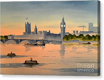 Westminster And Big Ben 1 Canvas Print by Bill Holkham