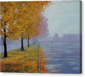 Wet Autumn Day Canvas Print by Graham Gercken