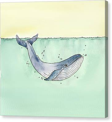 Whale Canvas Print by Katrina Davis