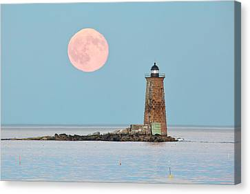 Whaleback Blue Moon Canvas Print by Eric Gendron