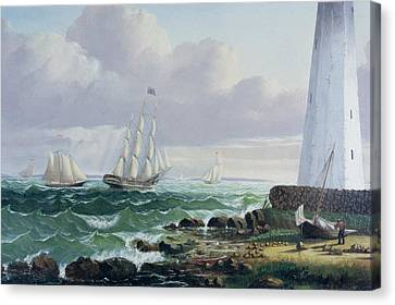 Whalers Coming Home Canvas Print by American School