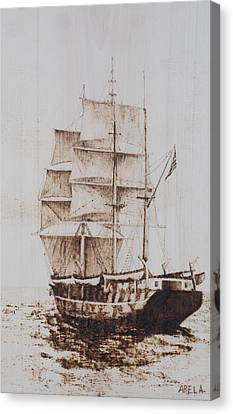 Whaleship Canvas Print by Dominic Abela