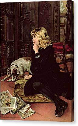 What Shall I Read Canvas Print by Florence Marlowe