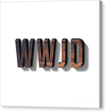 What Would Jesus Do Tee Canvas Print by Edward Fielding