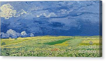 Wheatfields Under Thunderclouds Canvas Print by Vincent Van Gogh