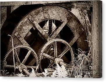 Wheels Of Time Canvas Print by Gabriela Insuratelu